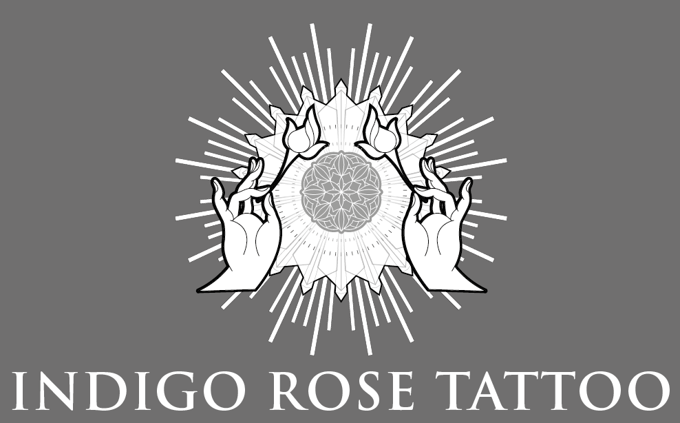 Indigo Rose Tattoo